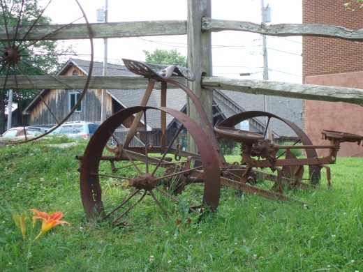 Farm Equipment like is looks great in a country garden