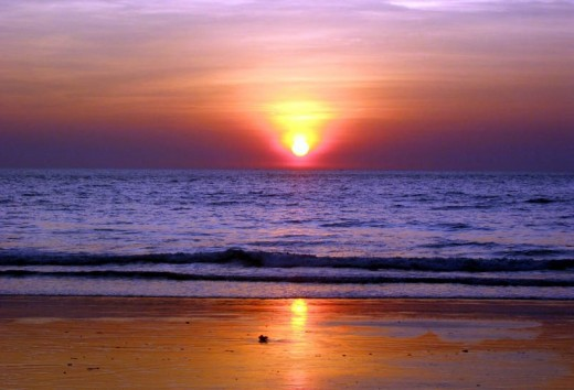 beautiful Sunset of Goa Beaches