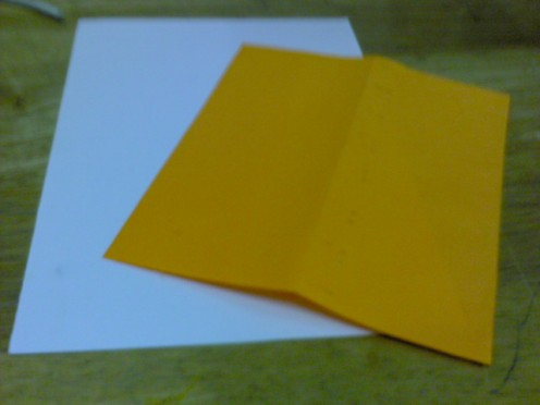 white card, any color paper....