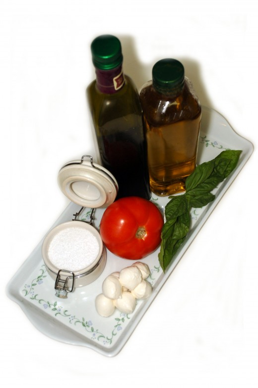 Everything you need to make Caprese Salad