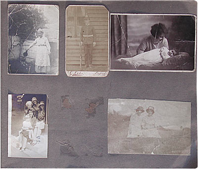 Capture treasured memories by making a scrapbook of old photos.