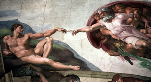 La Creazione by Michelangelo, Fresco On Ceiling Of Sistine Chapel
