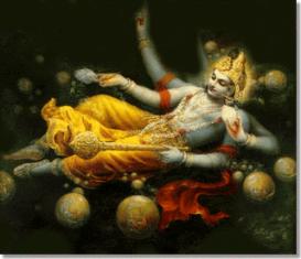 Modern Visualization Of Hinduism God, Vishnu (Image from hareksna.com)