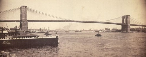 The Brooklyn Bridge, 1896.