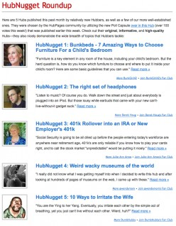 HubNuggets officially chosen and newsletter sent...did you get it yet?