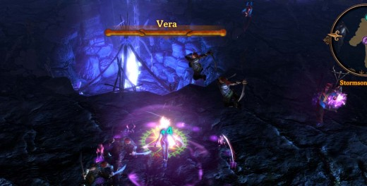 Dungeon Siege 3 Defeating Vera in Stormsong Cavern
