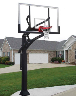 99d3e89ffb9 Do you have one of those driveway basketball hoops that is in the ground  with cement  Is it old and rusted and you wish you could take it down but  you don't ...