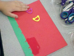 Children made Father's Day cards at the library.
