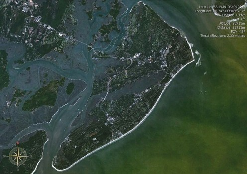 Hilton Head Island (from space)