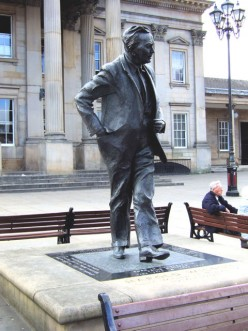 Harold Wilson statue, St George's Square, Huddersfield