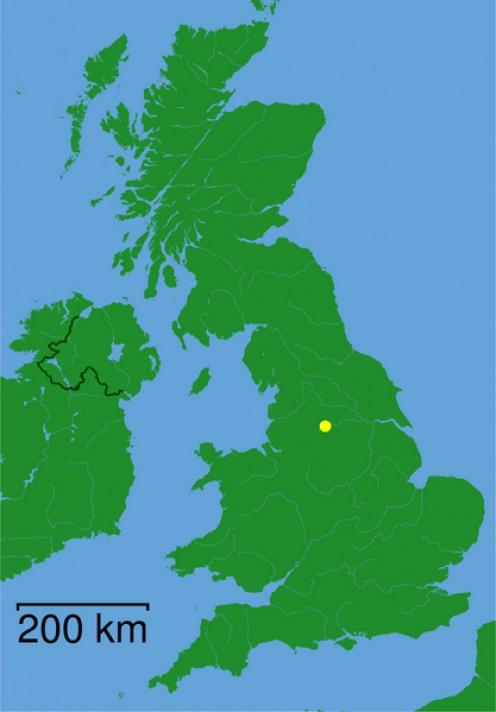 Map location of Huddersfield