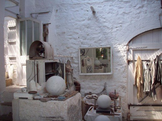 Barbara Hepworth's workroom