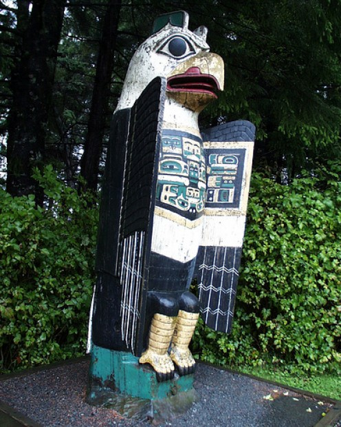 A carving in Ketchikan.
