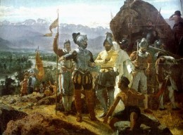 Conquistadors Planning Conquest in the New World