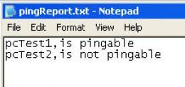 Ping Report