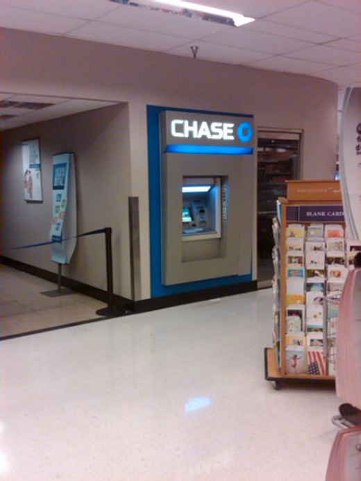 Chase Bank ATM inside supermarket in Casas Adobes, Arizona