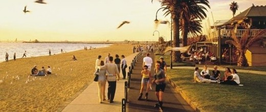 St Kilda beach - A quick drive or a 25 minute tram ride from Melbourne CBD