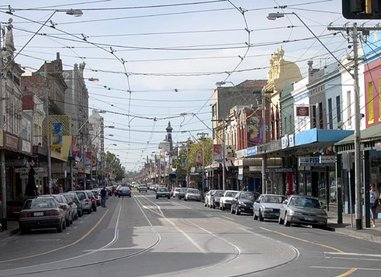 Smith Street, Collingwood. This is the route of Tram #86