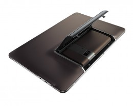 Press shot of ASUS Padfone's back, showing where the phone is docked