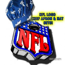 This NFL Logo looks great wearing a Chef Hat, and so will your football fan!