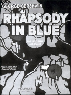 """Cover of original sheet music for """"Rhapsody in Blue"""""""