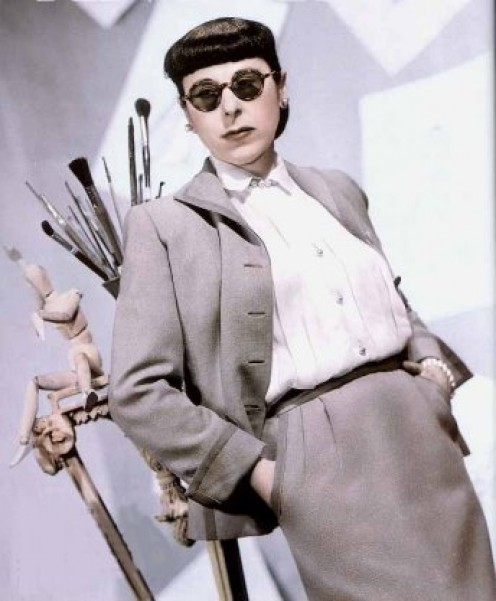 Edith Head publicity shot. Photo from Cinema Style
