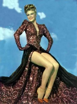 "A mink ansd sequins clad Ginger Rogers in a still from ""Lady in the Dark"""