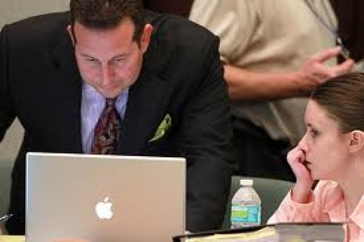 Defense Attorney Jose Baez and Casey Anthony.