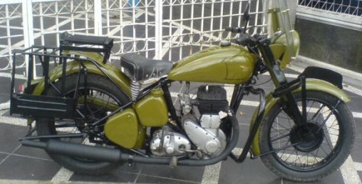The Birmingham Small Army (BSA) motorcycle that was restore again