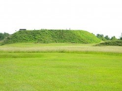 A tremendous amount of earth was required to be moved to achieve the 50+ foot  elevation of the Great Temple Mound.