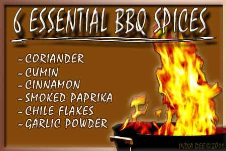 "Using these ""6 essential spices"" for your BBQ is bound to keep friends coming back!"