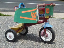 Not So Lazy Days: Kids transform trike into a race car