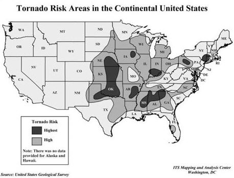 Tornado Risk Map