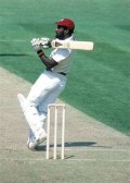 Viv Richards bludgeoning the ball over square leg.