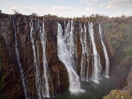 Victoria Falls provides one