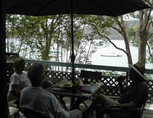 It's almost impossible to show heat in a photo - but this Xmas Eve at Dangar Island - 95 degrees F and 90% humidity