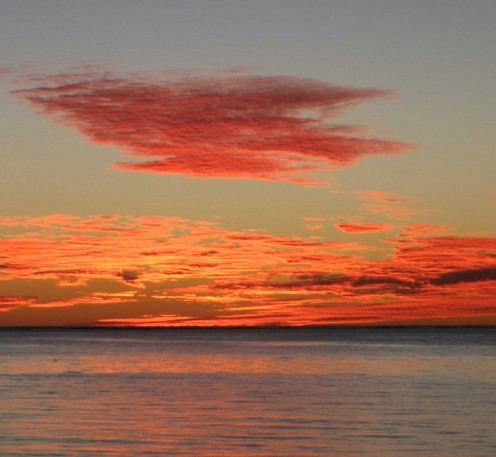 Electric sunset over Ningaloo reef