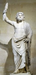 """Zeus, """"Father of Gods and men"""" God of sky and thunder in Greek mythology. His Roman counterpart was Jupiter."""