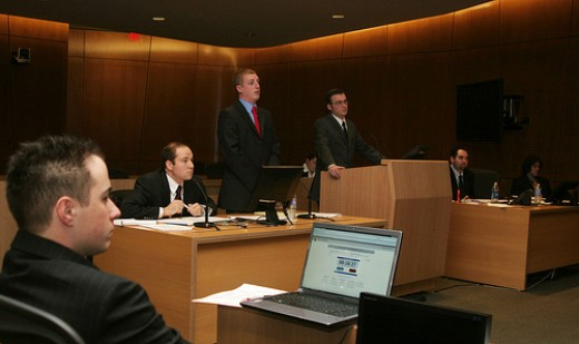 Courtrooms are a typical workplace for lawyers.