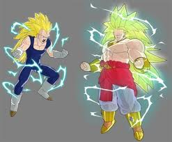 Super Saiyan 3 Vegeta & Legendary Super Saiyan 3 Broly (I almost soiled my pants the first time I saw LSS3 Broly on Dragon Ball: Raging Blast)