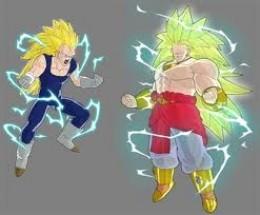 Super Saiyan 3 Vegeta & Legendary Super Saiyan 3 Broly (I almost soiled my pants the first time I saw LSS3 Broly on Dragon Ball: Raging Blast)