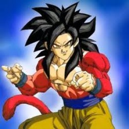 Super Saiyan 4 Goku (I wanted to get Goku and Vegeta together, but I couldn't find any pics with the correct format)