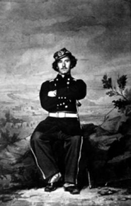 Portrait of Ellsworth taken by Matthew Brady