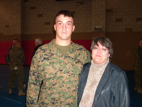 My Marine Son and his Military Mom!  December 2007