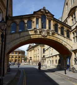 Oxford: the Bridge of Sighs at Hertford College passes over New College Lane.