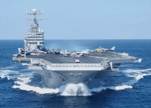 Most naval battle groups today have an aircraft carrier as the centerpiece of the group.