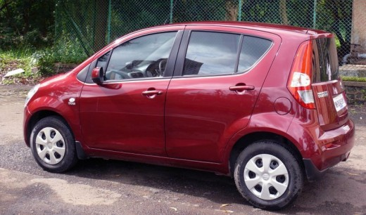 Maruti Ritz Red Side View