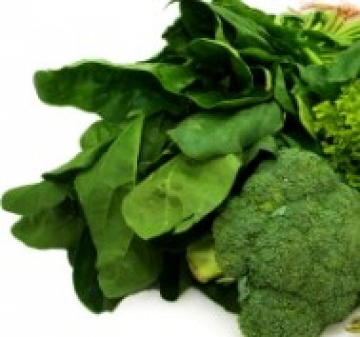 Green vegetables.