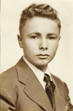 My Dad as a young man in school.