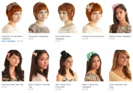A smattering of the ModCloth hair accessory selection